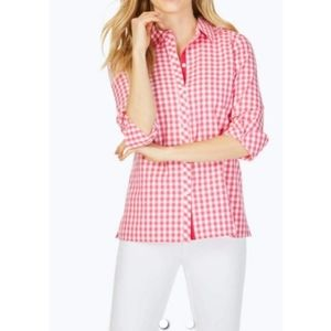 Foxcroft Morgan Non Iron Sweet Gingham Shirt